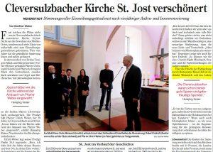 Restaurierung evangelische Kirche Cleversulzbach