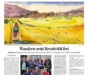 Vernissage Camino del arte Pressebericht