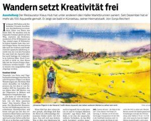 Haller Tagblatt Pressebericht Camino del arte